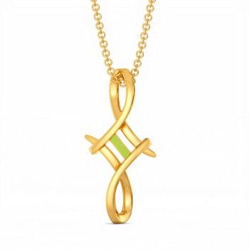 Lime N Licious Gold Pendants