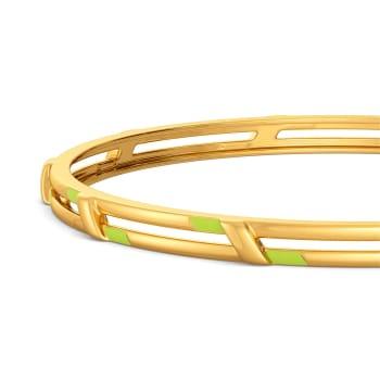 Neon Play  Gold Bangles