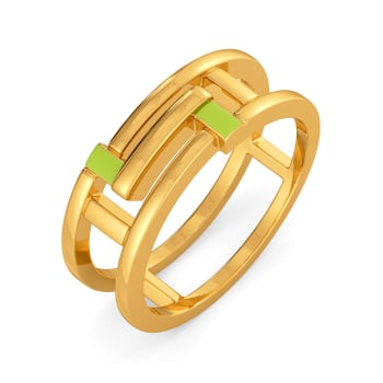 Colour Me Neon Gold Rings