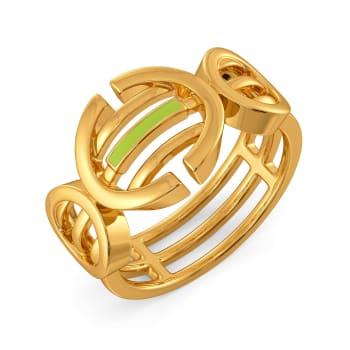 Sassy Neon Gold Rings