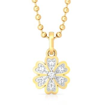 Star of Hearts Diamond Pendants
