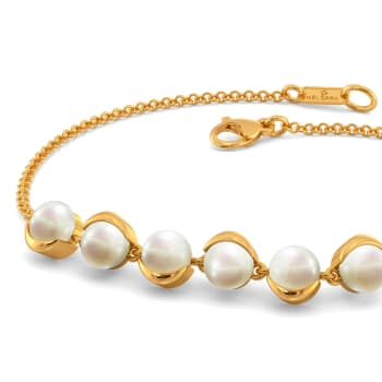 Curl A Pearl Gemstone Bracelets