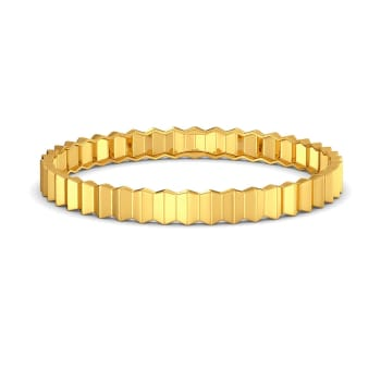 Crease Folds Gold Bangles