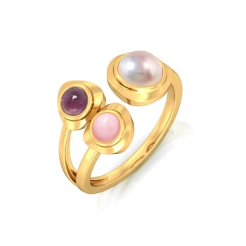 Cherry Blossom Gemstone Rings