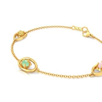 Triple Scoop Gemstone Bracelets