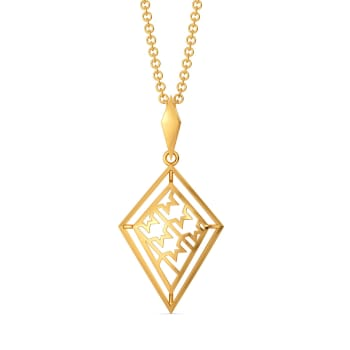 Houndstooth Check Gold Pendants