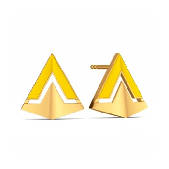 Graduate to Cool Gold Earrings