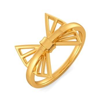 Handtied Bows Gold Rings