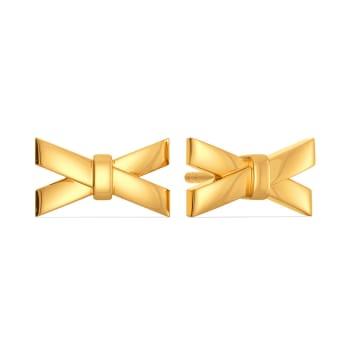 Bow Buckles Gold Earrings