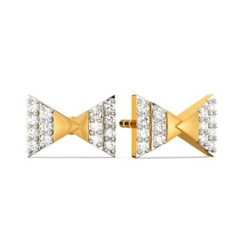 Bet A Bow Diamond Earrings