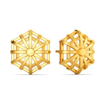 Raffia Recycle Gold Earrings