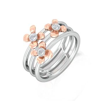 Confetti Flowers Diamond Rings