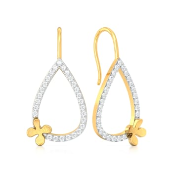 Clever Clover Diamond Earrings