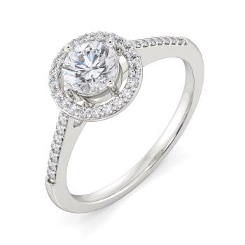 Halo Amour Diamond Rings