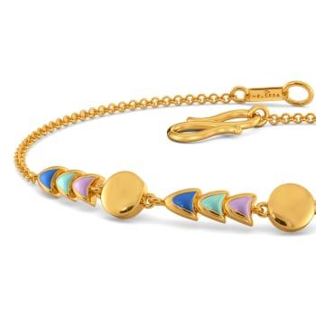 Psychedelic 70s Gold Bracelets
