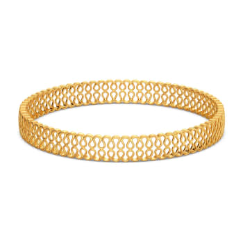 Knit Layers Gold Bangles