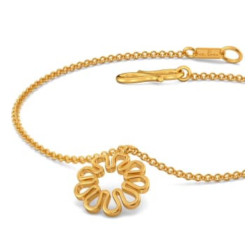 Knot in Knit Gold Bracelets