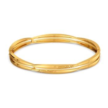 Feasible Fern Gold Bangles