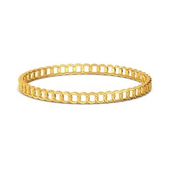 Chain Domain Gold Bangles