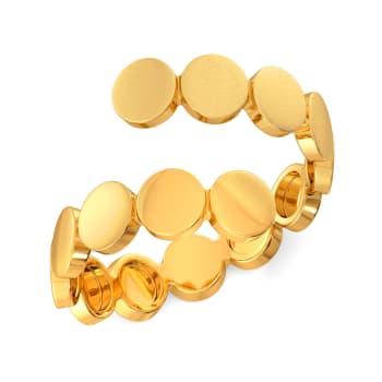 Sequin Meetings Gold Rings