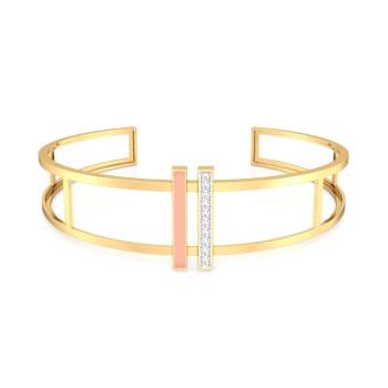 Micro-Striped Diamond Bangles