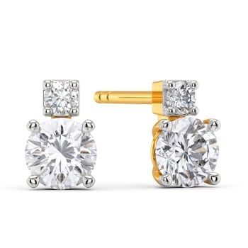 Scope to Square Diamond Earrings