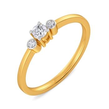 Solitaire Sun Diamond Rings