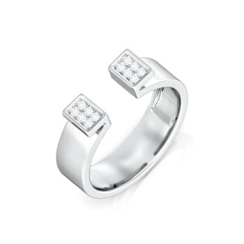 White collar Diamond Rings
