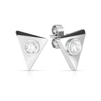 Beveled black  Diamond Earrings