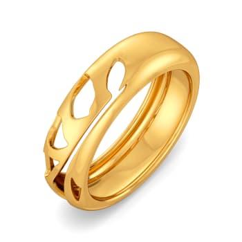 Silky Slinky Gold Rings