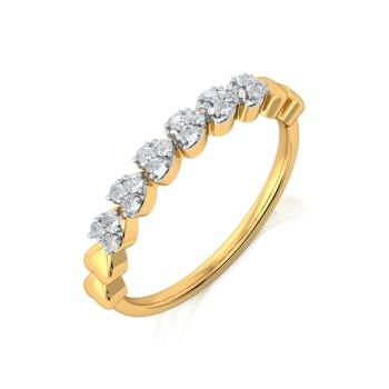 Curl Furl Diamond Rings