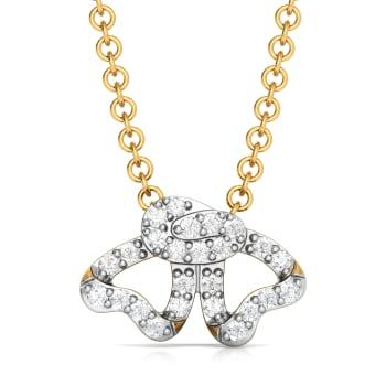 Curl Furl Diamond Pendants
