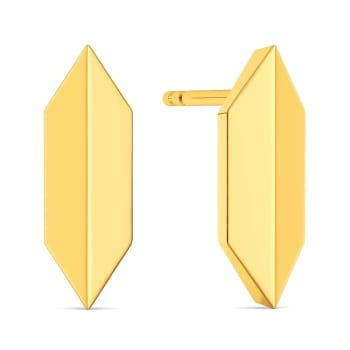Dapper Dance Gold Earrings
