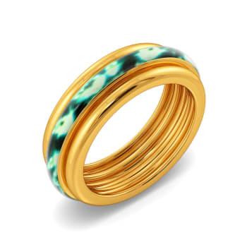 Pop O Green Gold Rings