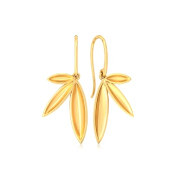 Fun & Foliage Gold Earrings