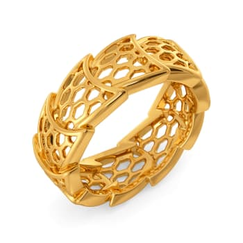 Frills of Charm Gold Rings