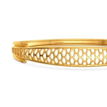 Frills of Charm Gold Bangles