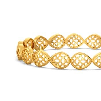 Frill Fance Gold Bangles