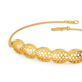 Dramatic Flows Gold Bracelets