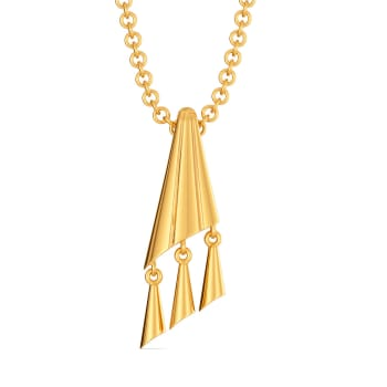 Twin Tassels Gold Pendants