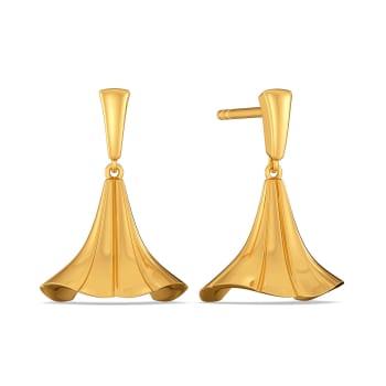 Tassel Curls Gold Earrings