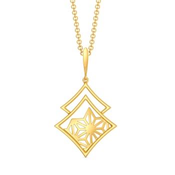 Bare N Bold Gold Pendants