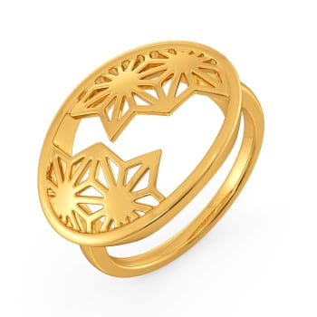 Inner Lace Gold Rings