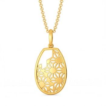 Inner Lace Gold Pendants