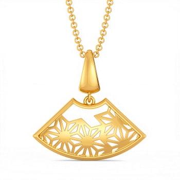 Lace It Up Gold Pendants
