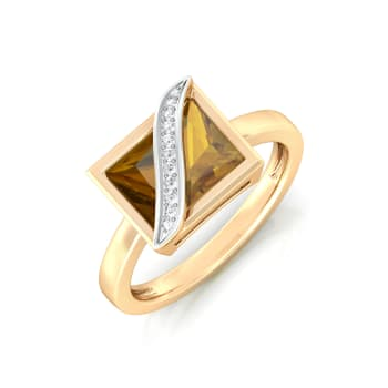 Brown in Town Diamond Rings