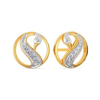 Swan Spark Diamond Earrings