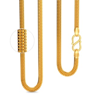 22kt Triple Box chain Gold Chains