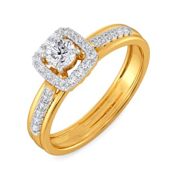 Solitaire Charm Diamond Rings
