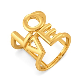 Love Wins Gold Rings